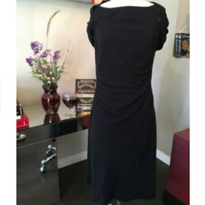 Prada Wool Crepe Ruffle Front Dress 3-320-91519